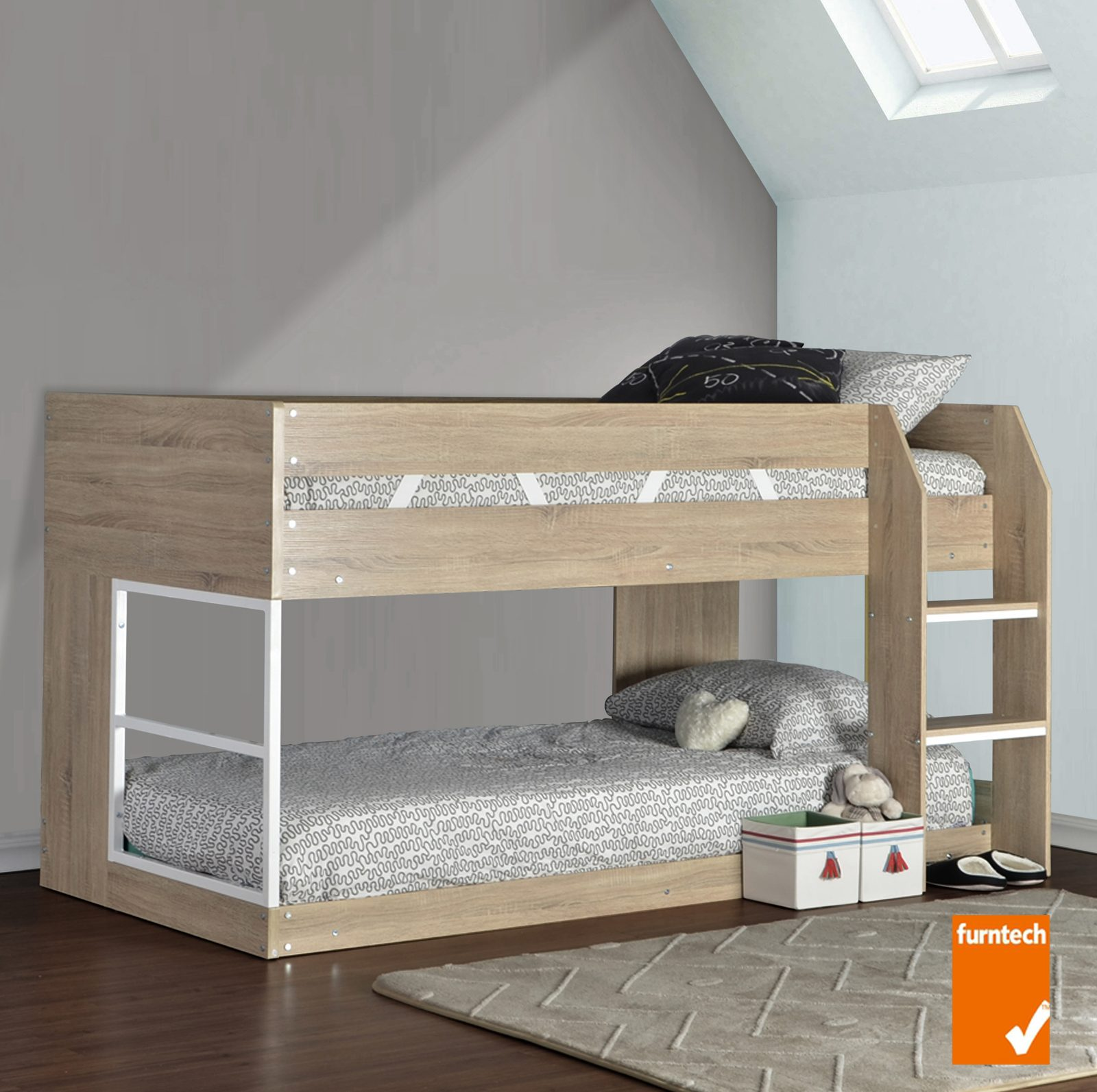 Low Line Single Bunk Bed Sonoma Oak