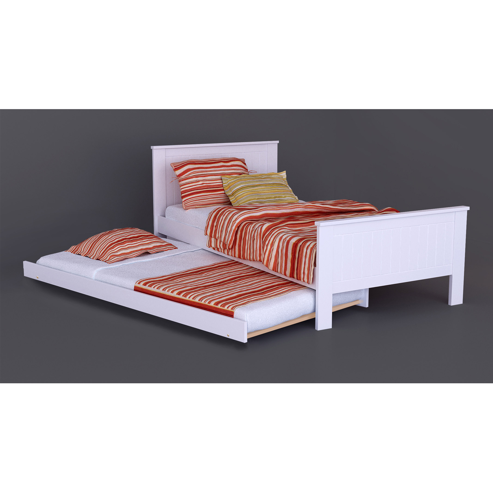 single m1 wooden bed trundle
